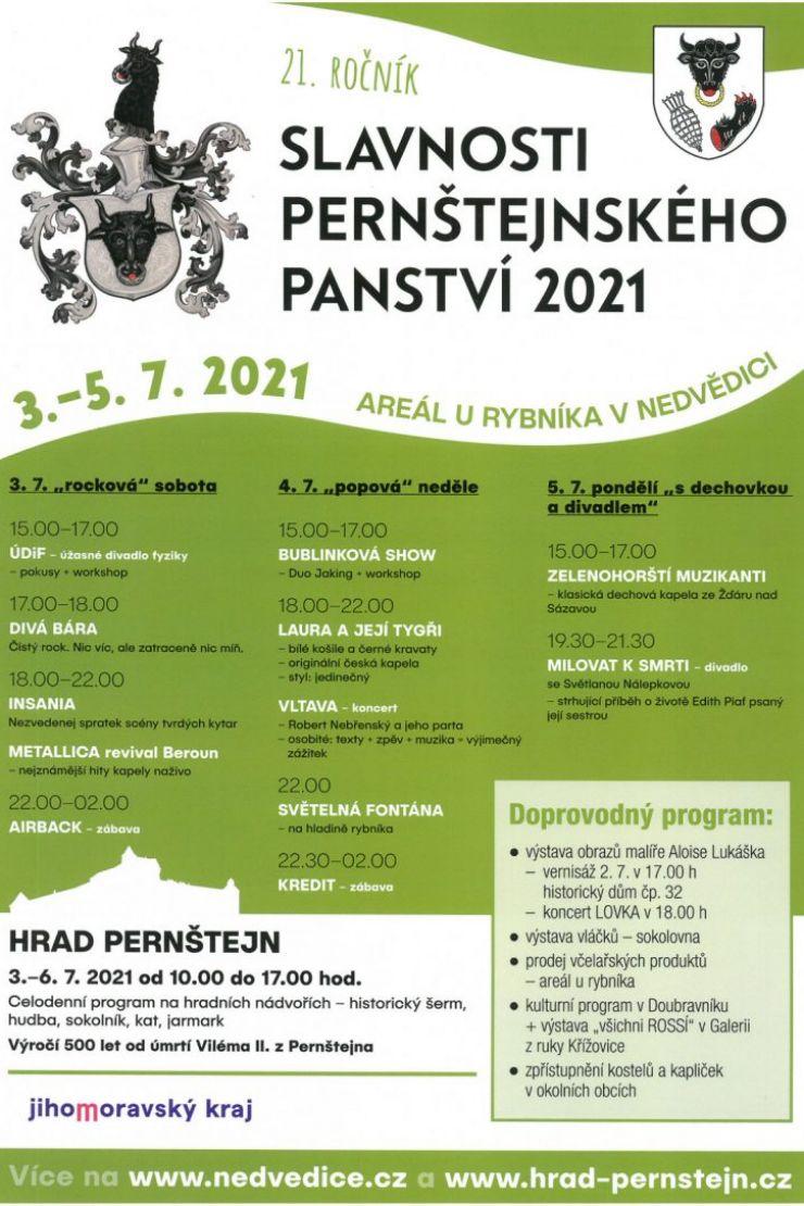 Slavnosti Pernštejnského panství 2021